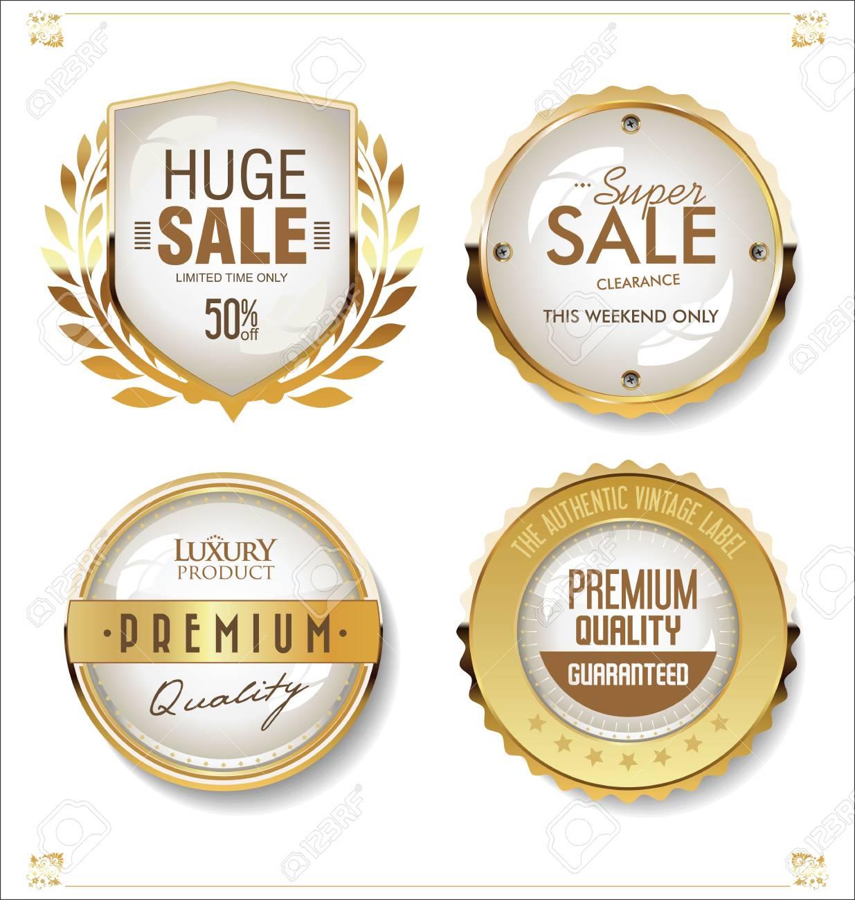 Luxury premium golden badges and labels - 125504993