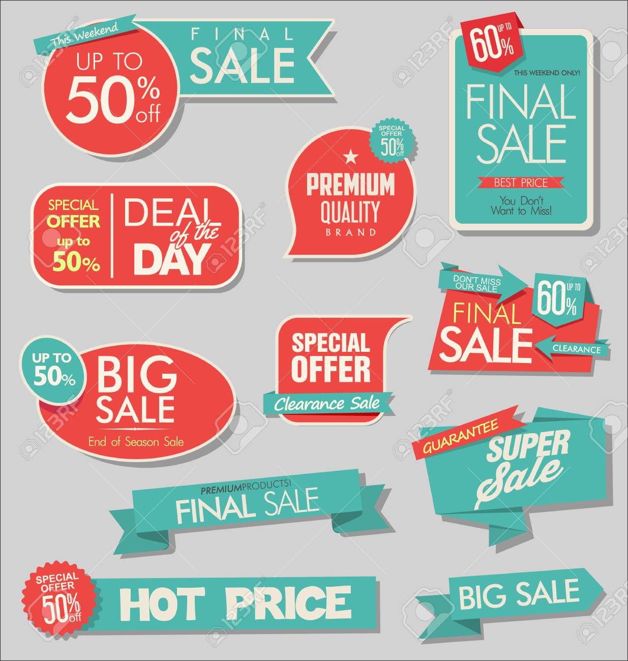 modern sale stickers - 125505008