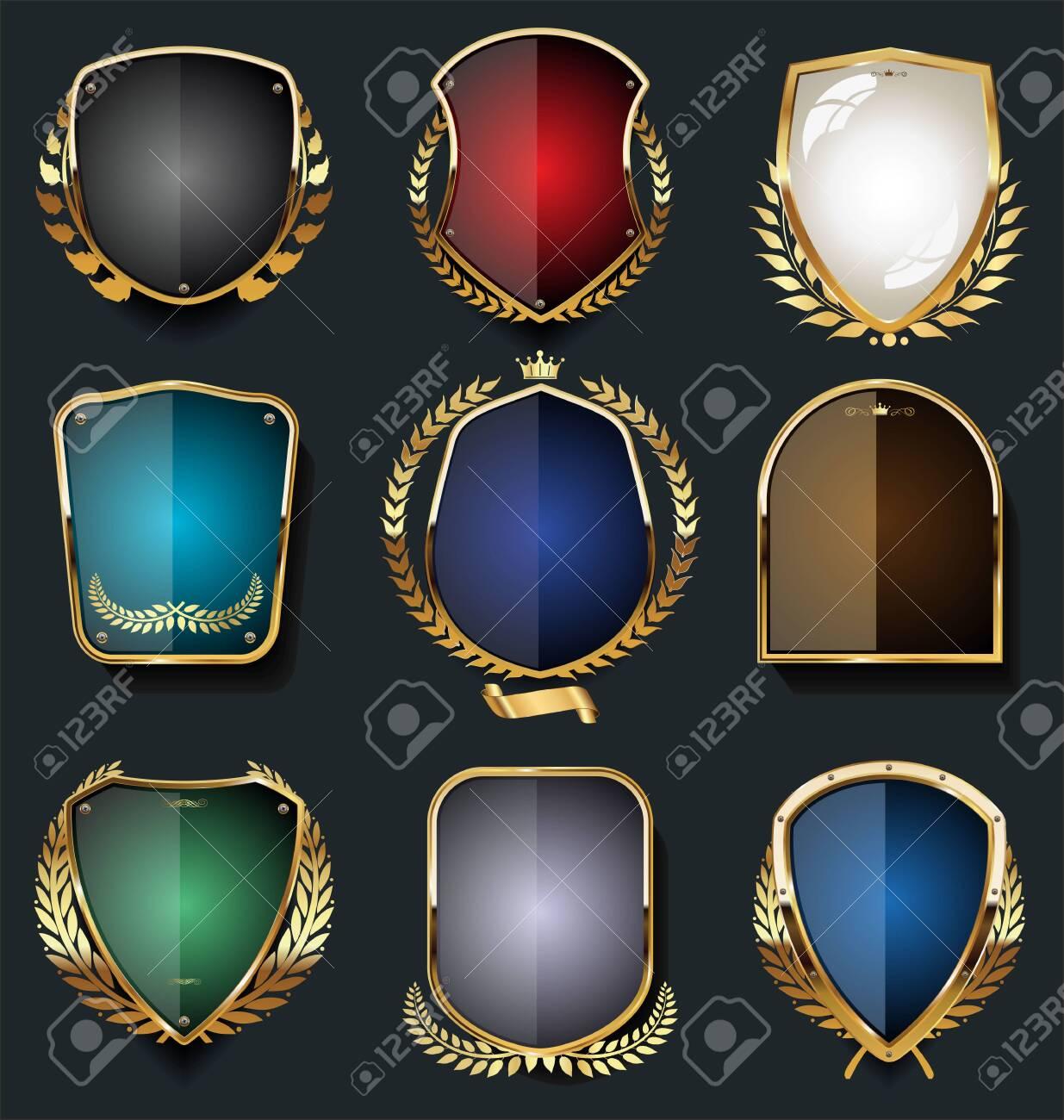 Luxury premium golden badges and labels - 131079046