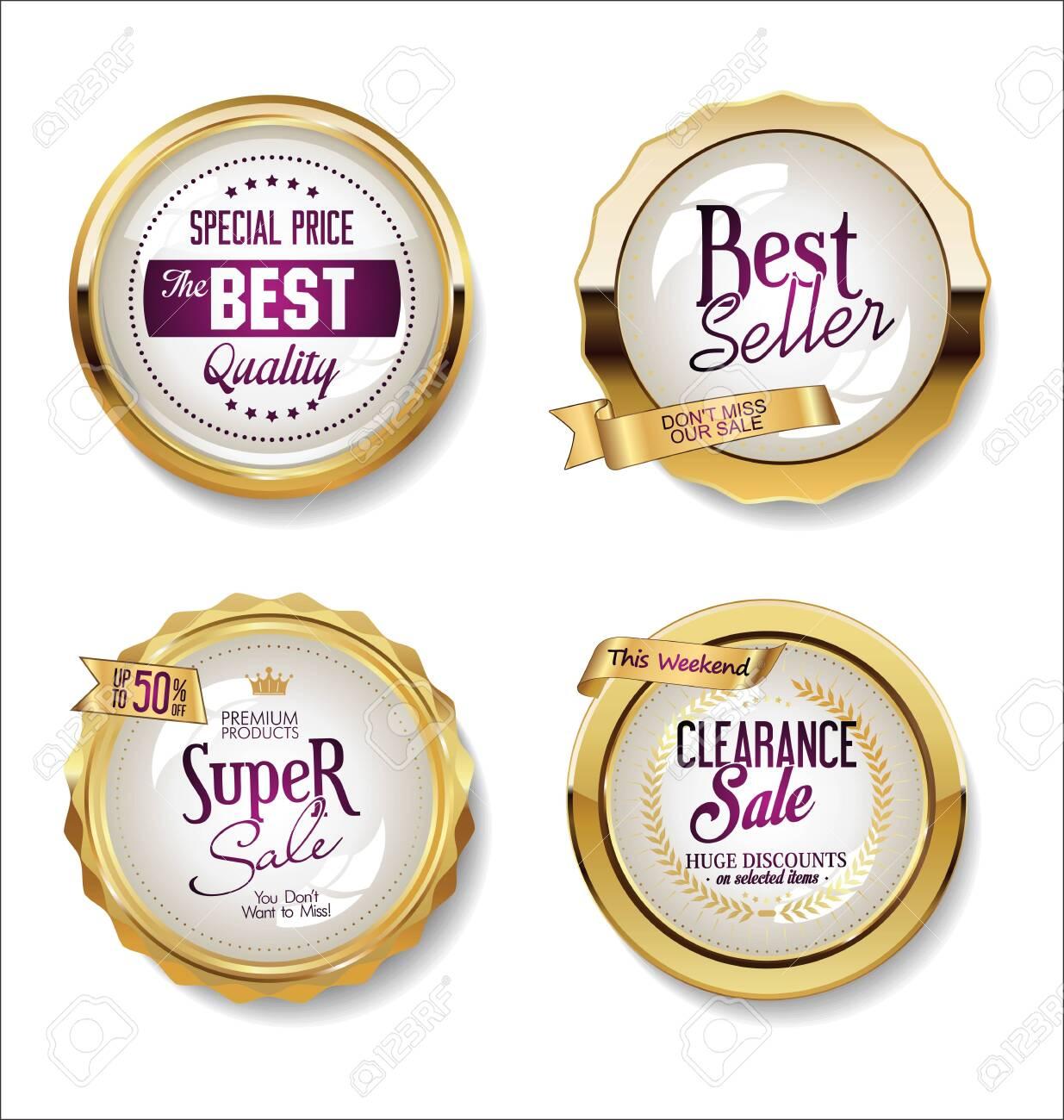 Luxury premium golden badges and labels - 135122947