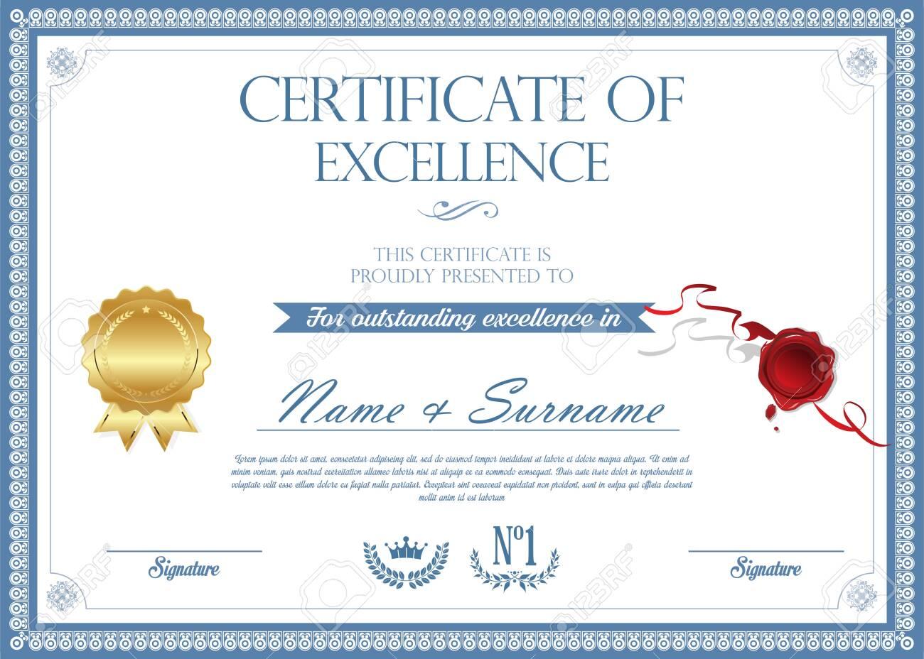 certificate or diploma retro design - 138296291