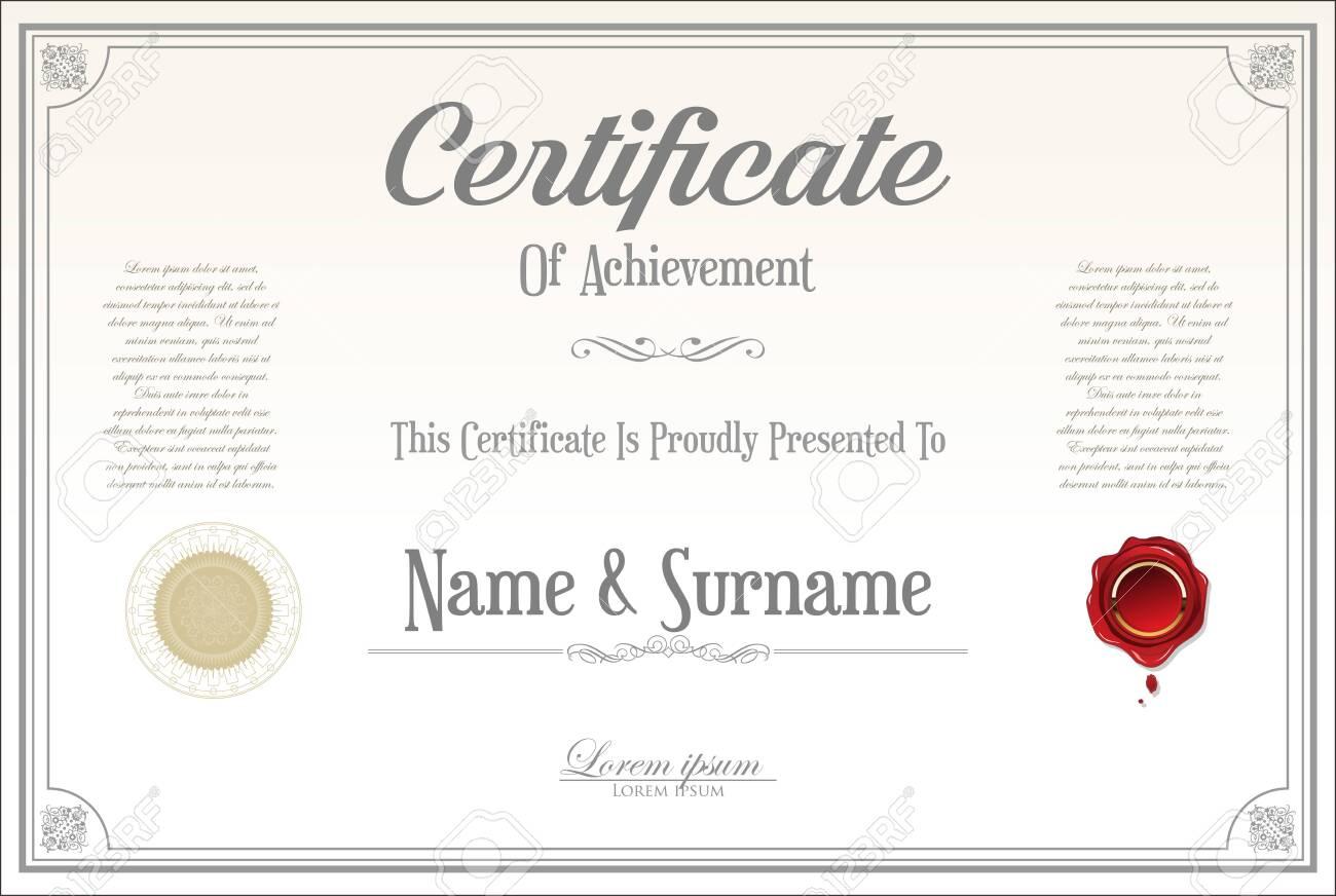 certificate or diploma retro design - 138296436