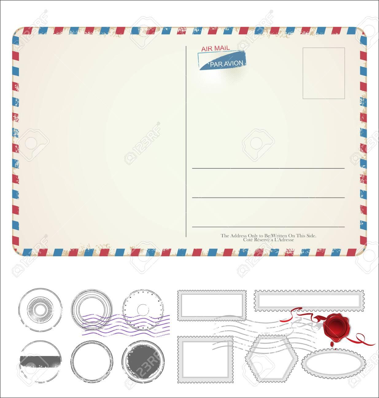 Empty post card retro vintage design - 139627637