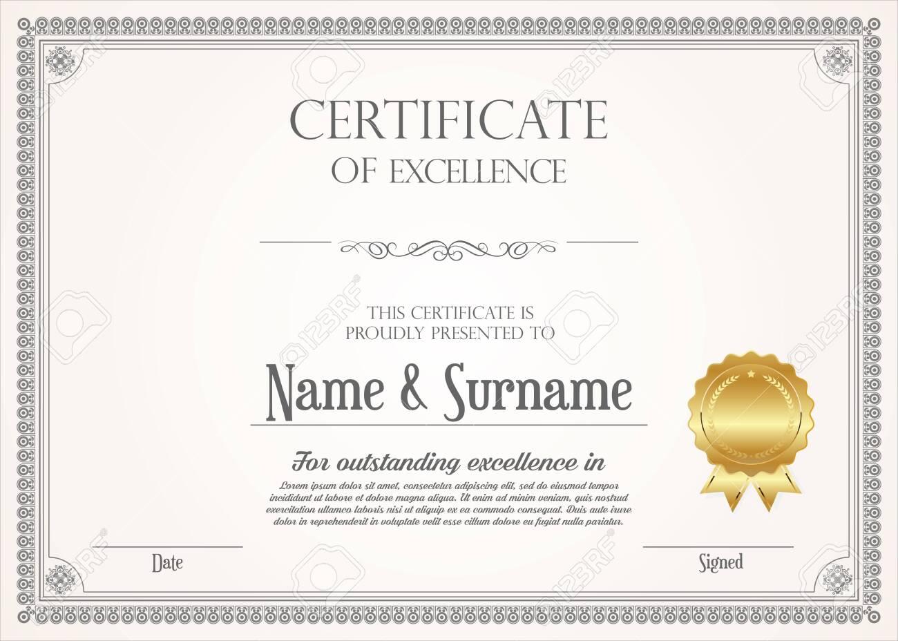 certificate or diploma retro design - 140881101