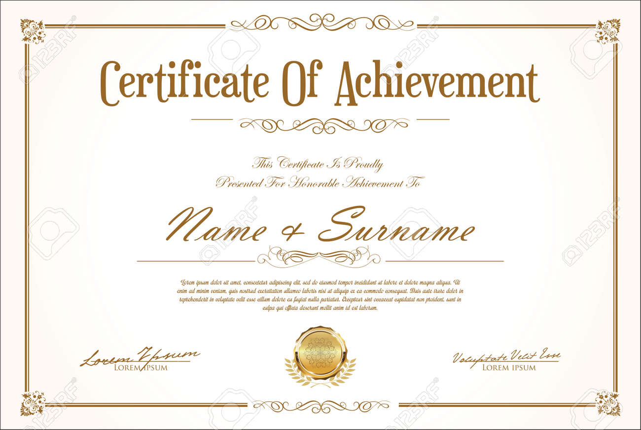 Certificate or diploma retro design - 166749640