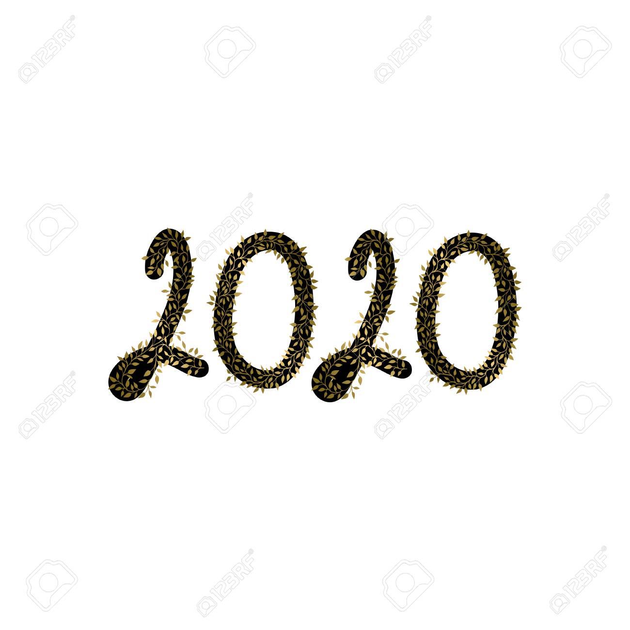 carte de voeux 2020 Carte De Voeux De Bonne Année 2020 Clip Art Libres De Droits
