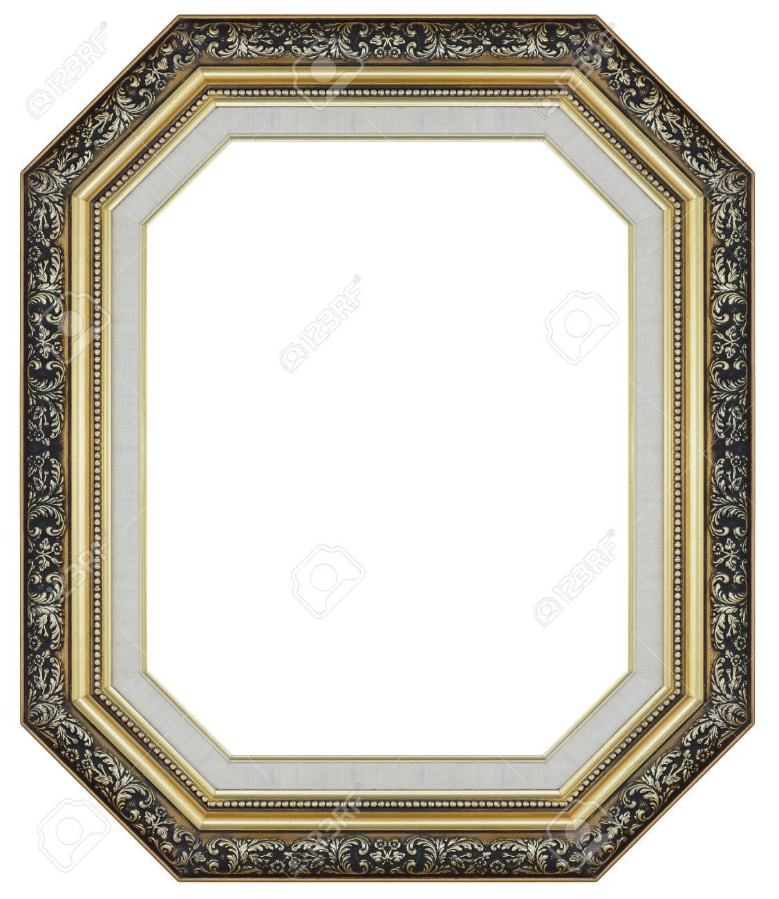 Alte Antike Gold Und Schwarzen Rahmen Isoliert Dekorativ ...