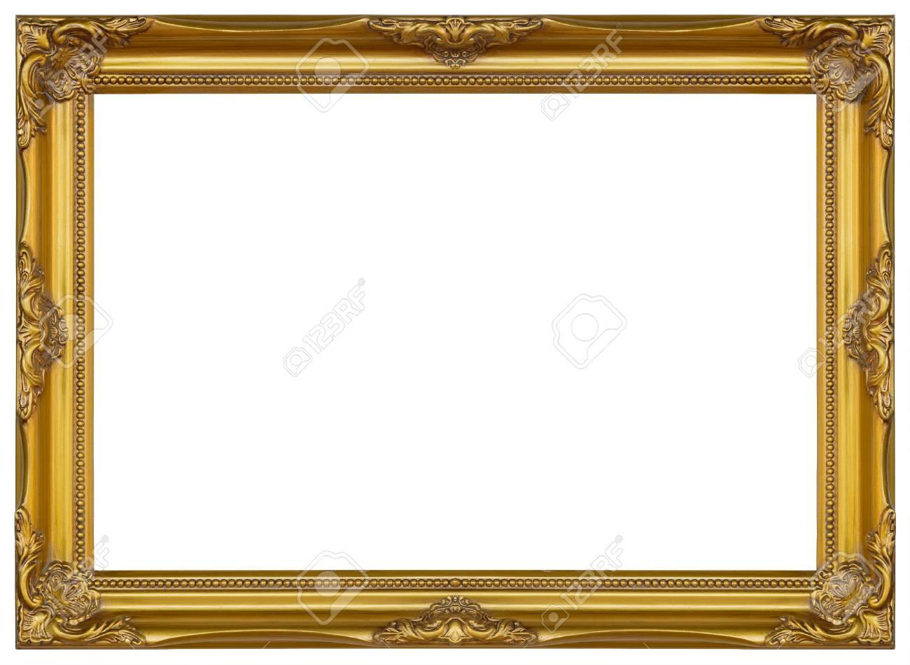 El Marco Antiguo Del Oro Aisló El Soporte De Madera Tallado ...