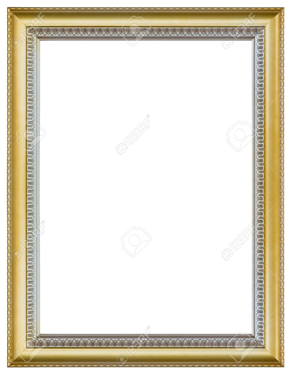 Gold Picture Frame For Painting Or Picture On White Background ...