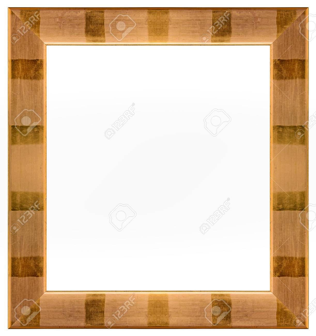 Copper Red And Gold Picture Frame For Painting Or Picture On.. Stock ...