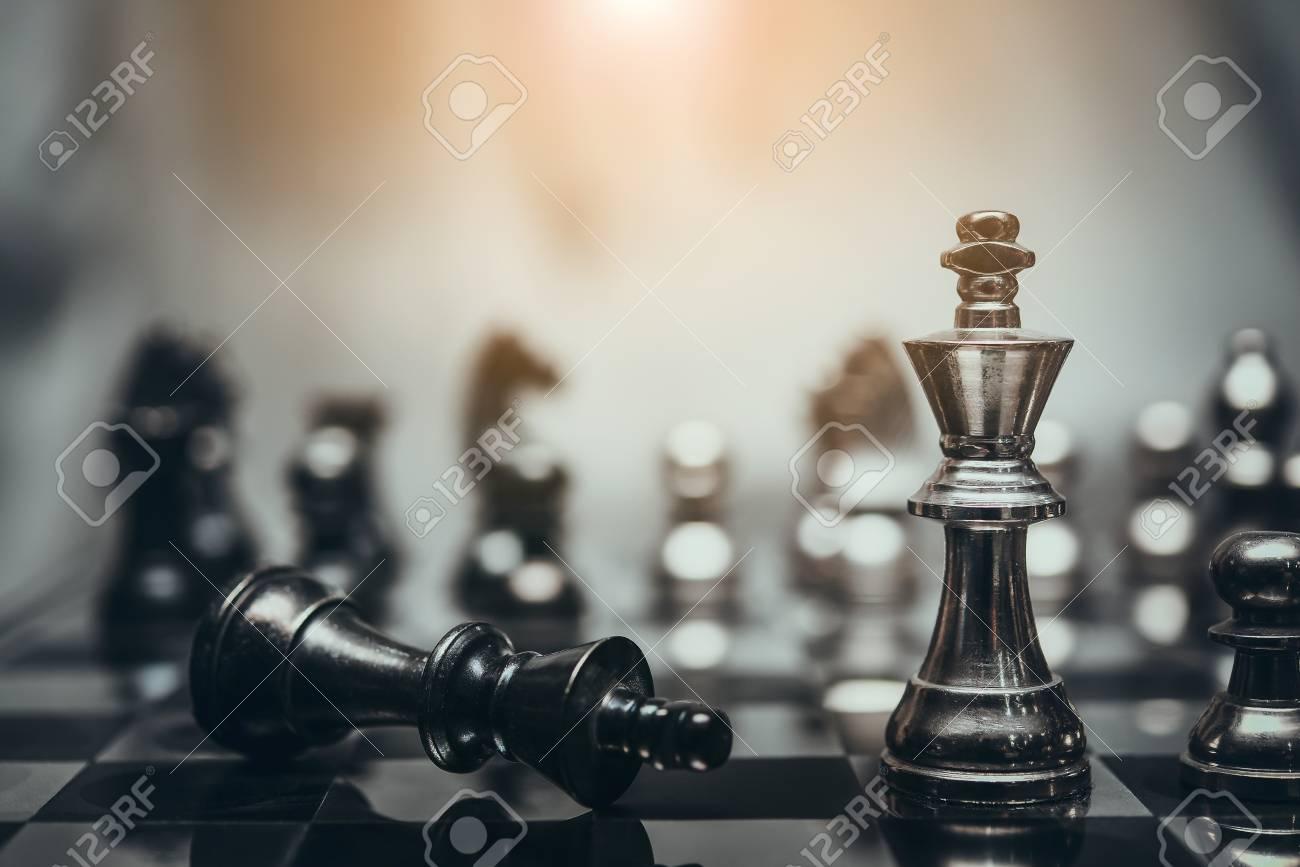 Juego De Mesa De Ajedrez Para Ideas Y Competencia Y Estrategia