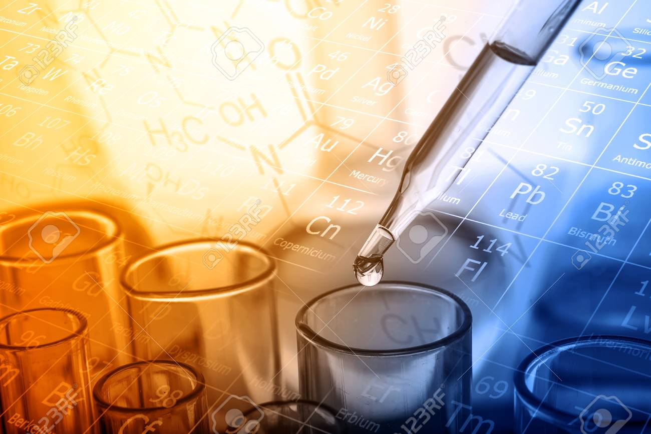 dropping liquid to test tube, Chemical, scientific research and development concept - 91047572