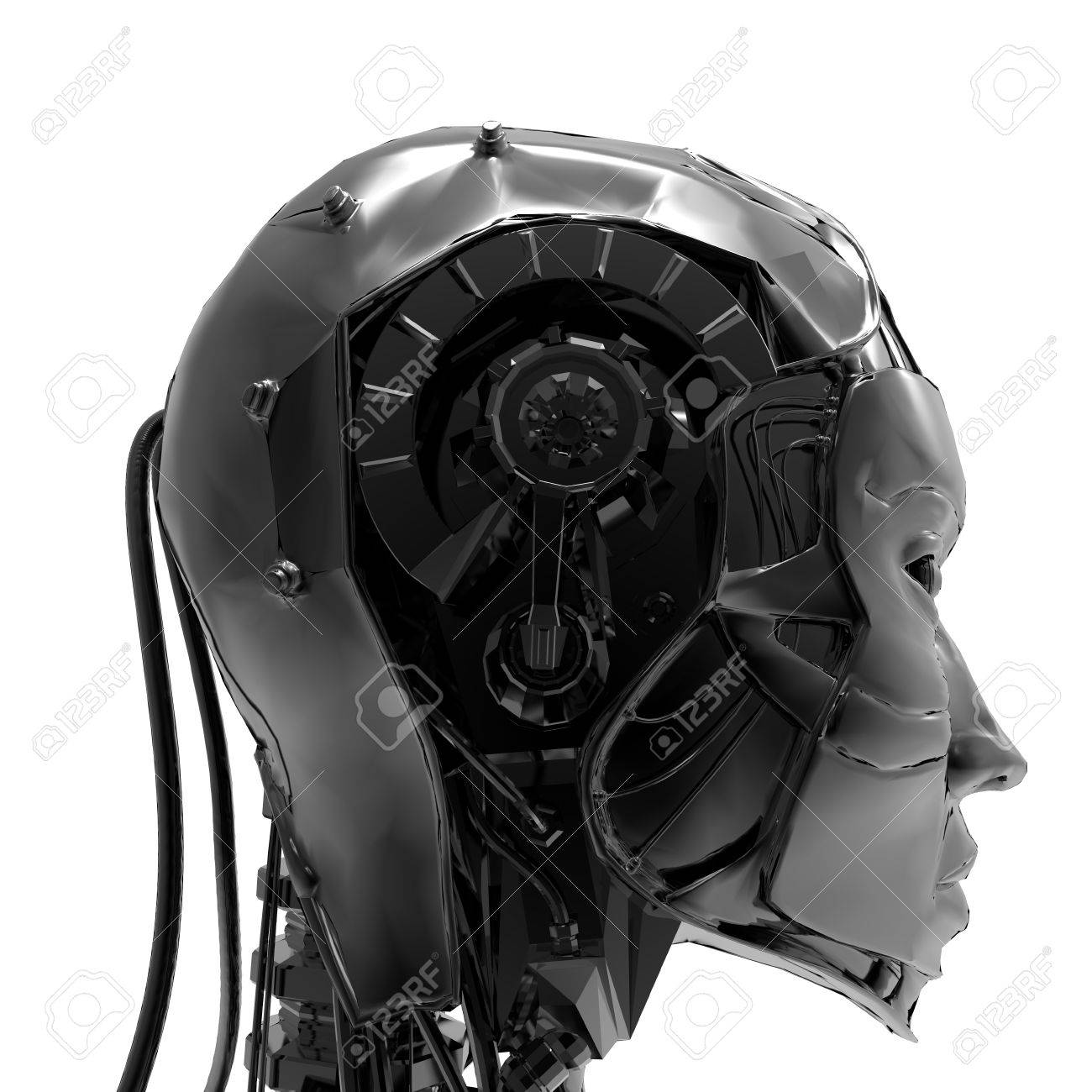 Technoorgirl  ,A mechanical ,cold and electronic version of women Stock Photo - 17401136