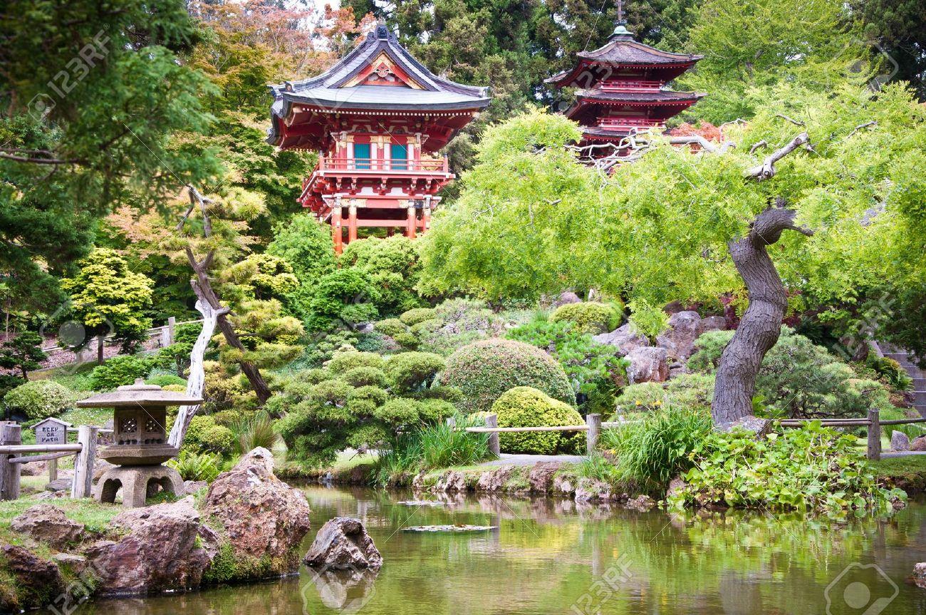 Japanese Garden: The Japanese Tea Garden In The Golden Gate Park, San  Francisco.