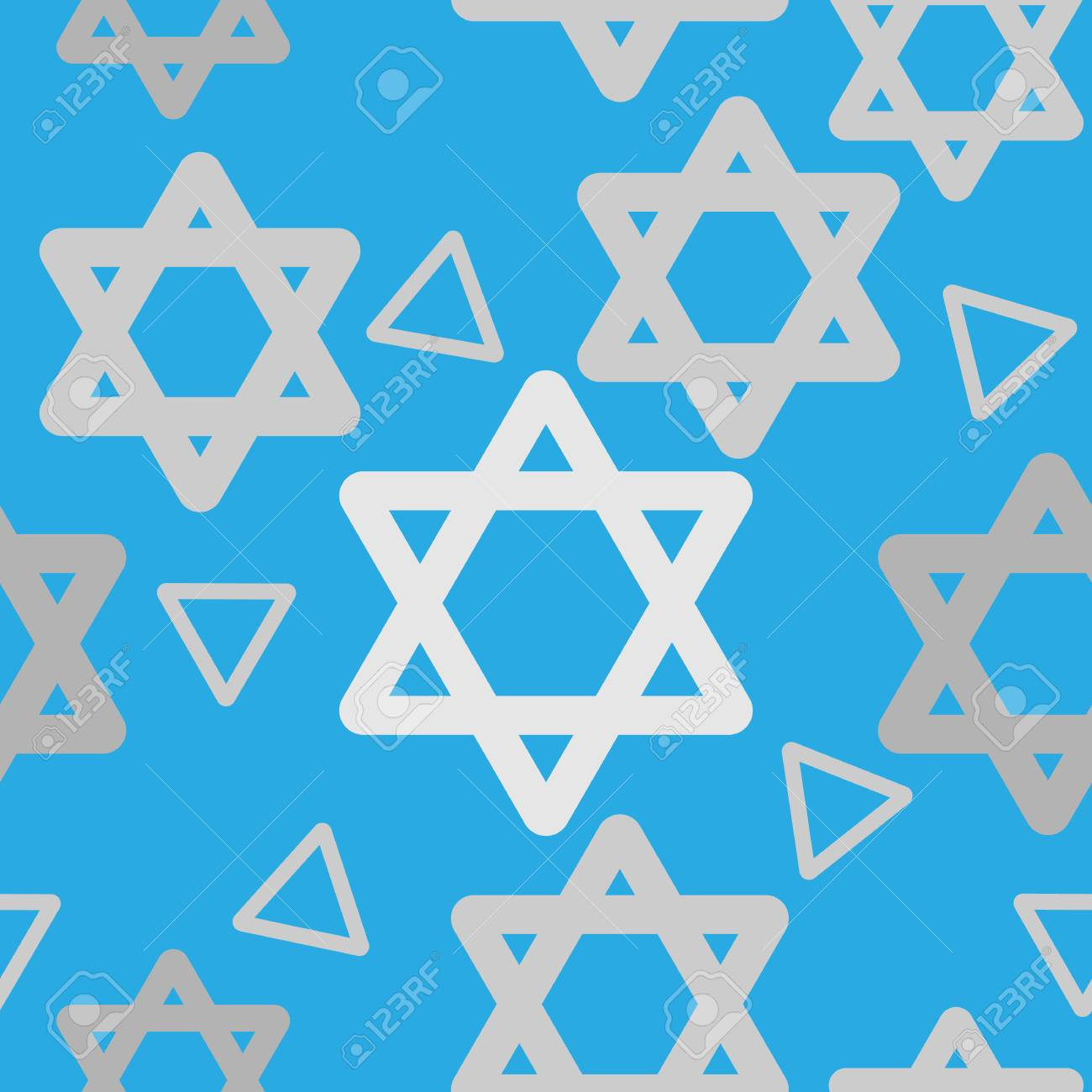 Jewish seamless pattern with form and star of David. Perfect for wallpapers, pattern fills
