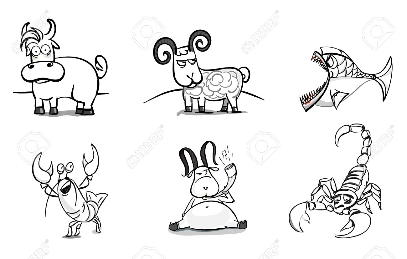 Uncategorized Drawn Pictures Of Animals hand drawn animals set royalty free cliparts vectors and stock vector 11225281
