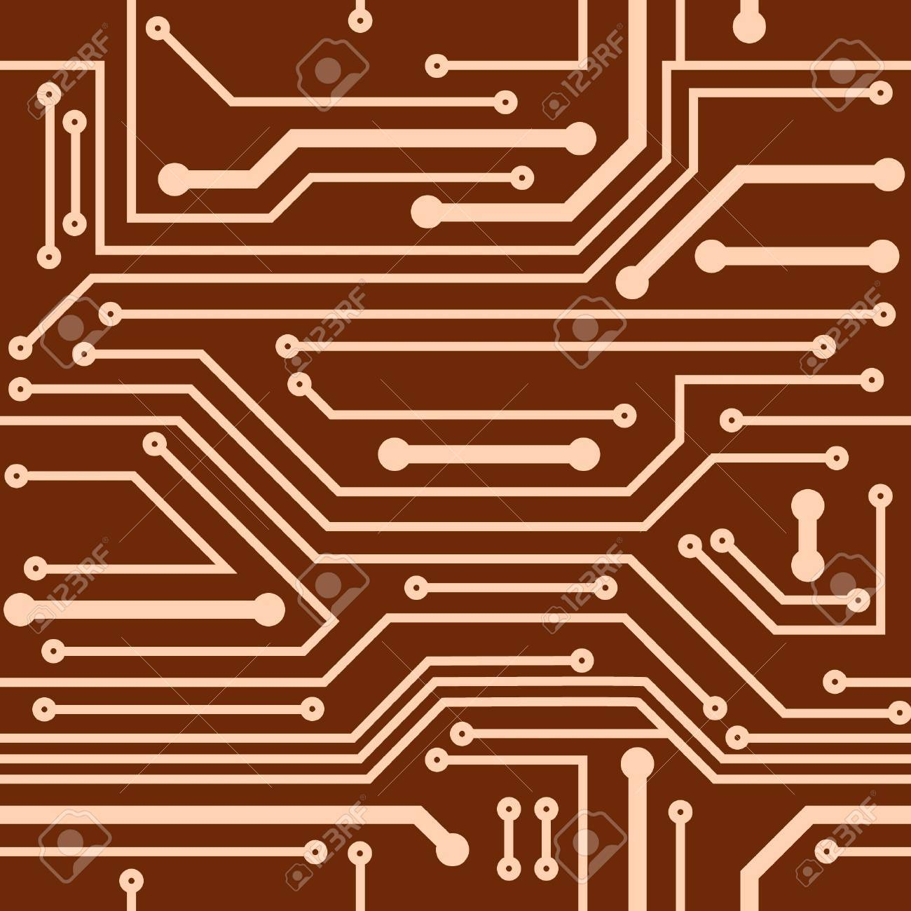Abstract seamless background of computer board Stock Vector - 11226627