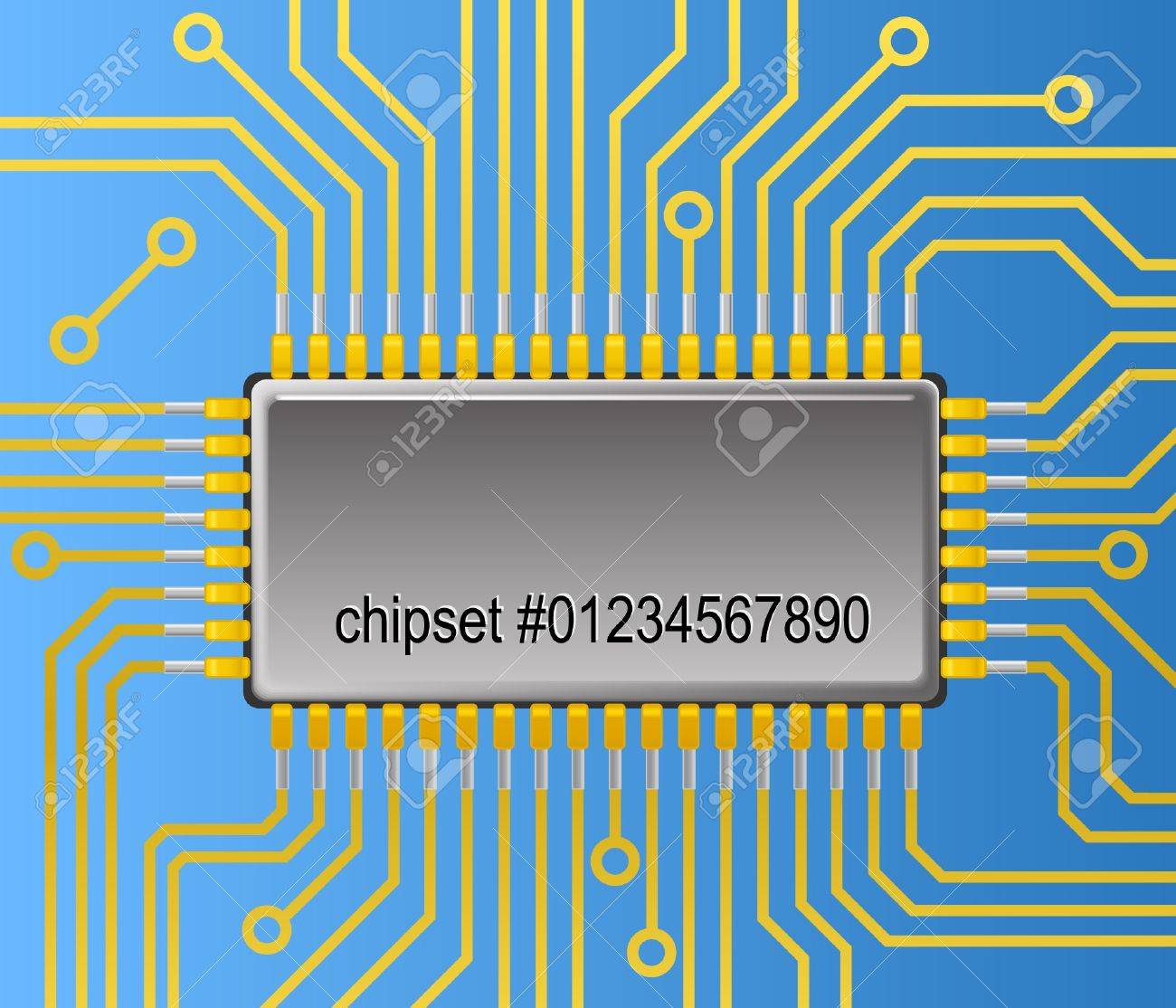 Computer board background Stock Vector - 11226555