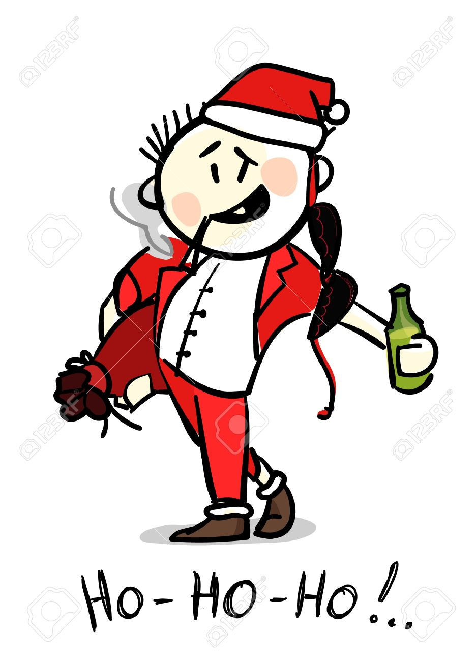 Drunk Santa Royalty Free Cliparts, Vectors, And Stock Illustration ...