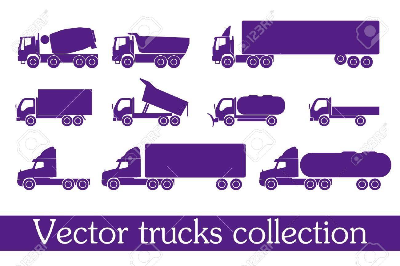 Truck set Stock Vector - 11258842