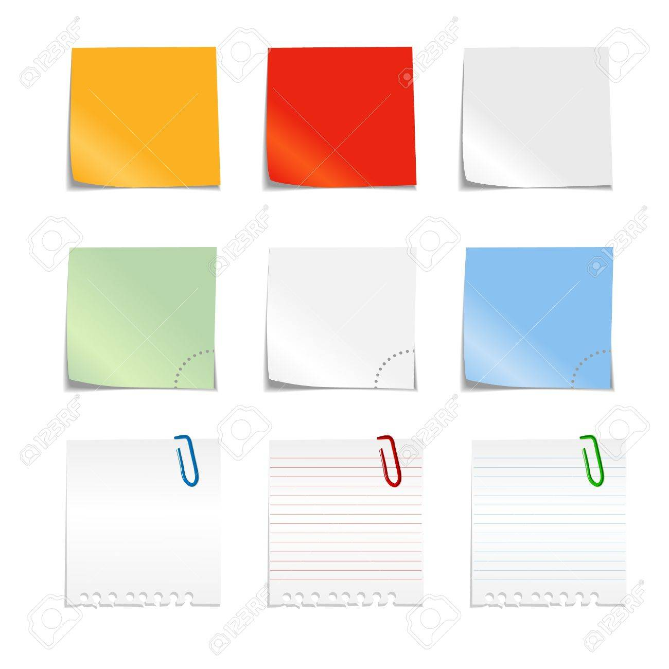 Paper color stickers Stock Vector - 11260577