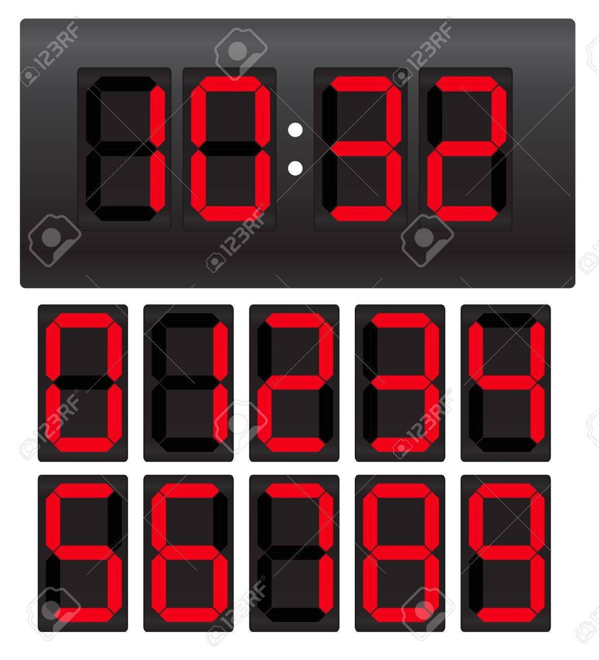 Digital clock Stock Vector - 11259022