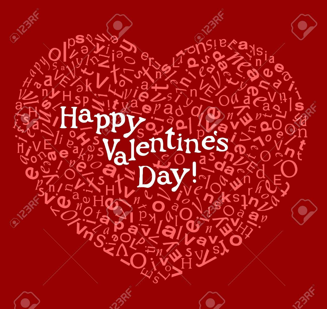 Happy Valentine Card Royalty Free Cliparts Vectors And – Valentine Card Words