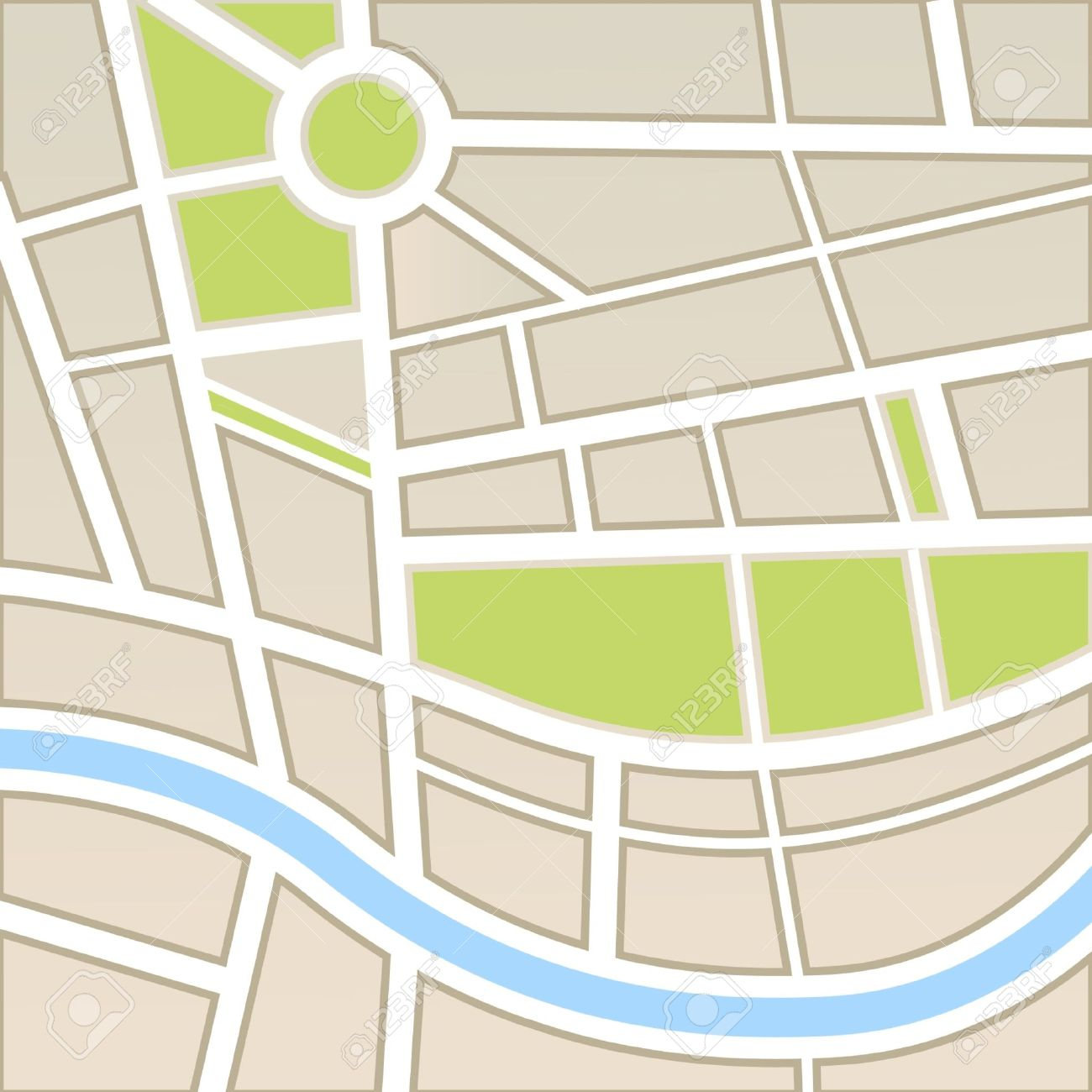 City Map Vector Free Background of City Map Vector