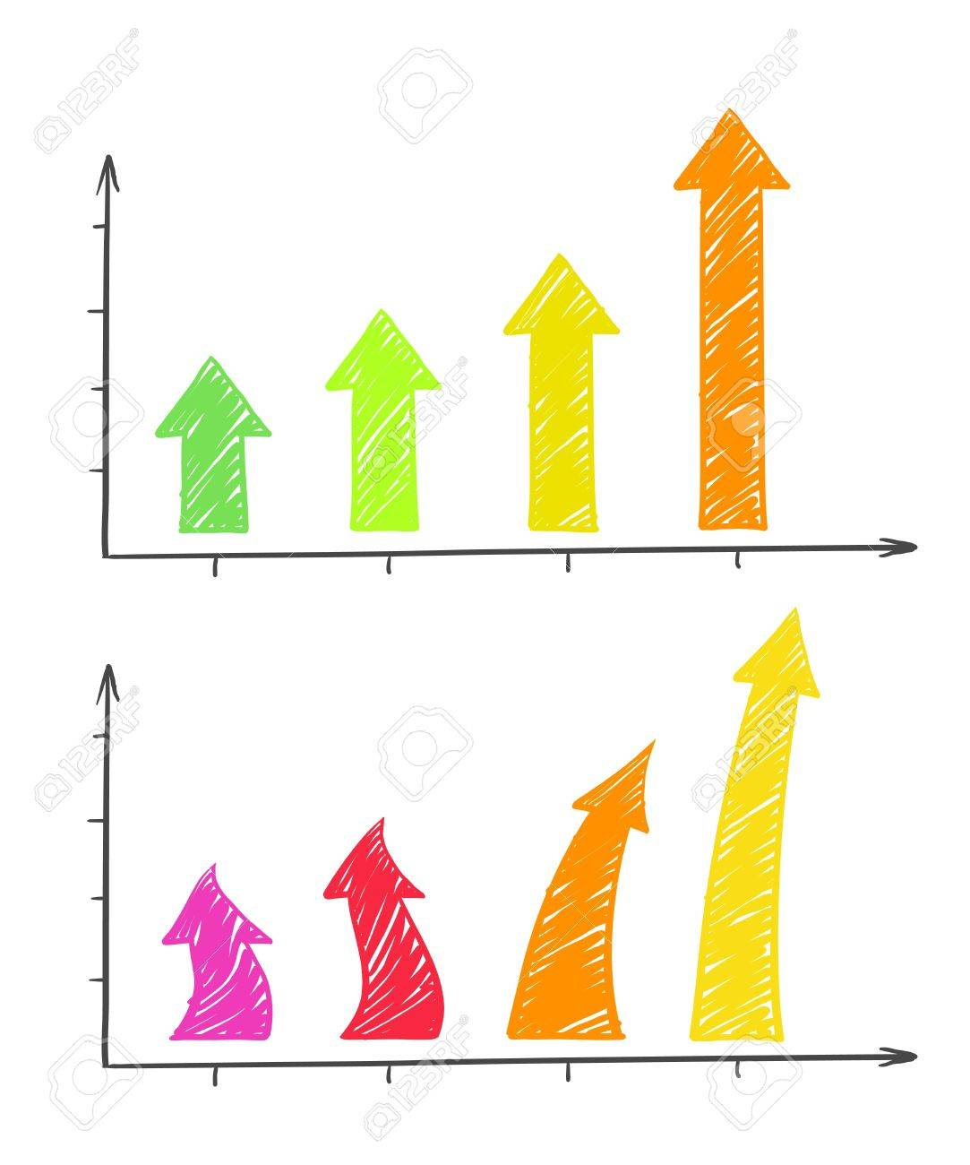 Hand-drawn Arrows Diagram Royalty Free Cliparts, Vectors, And ...