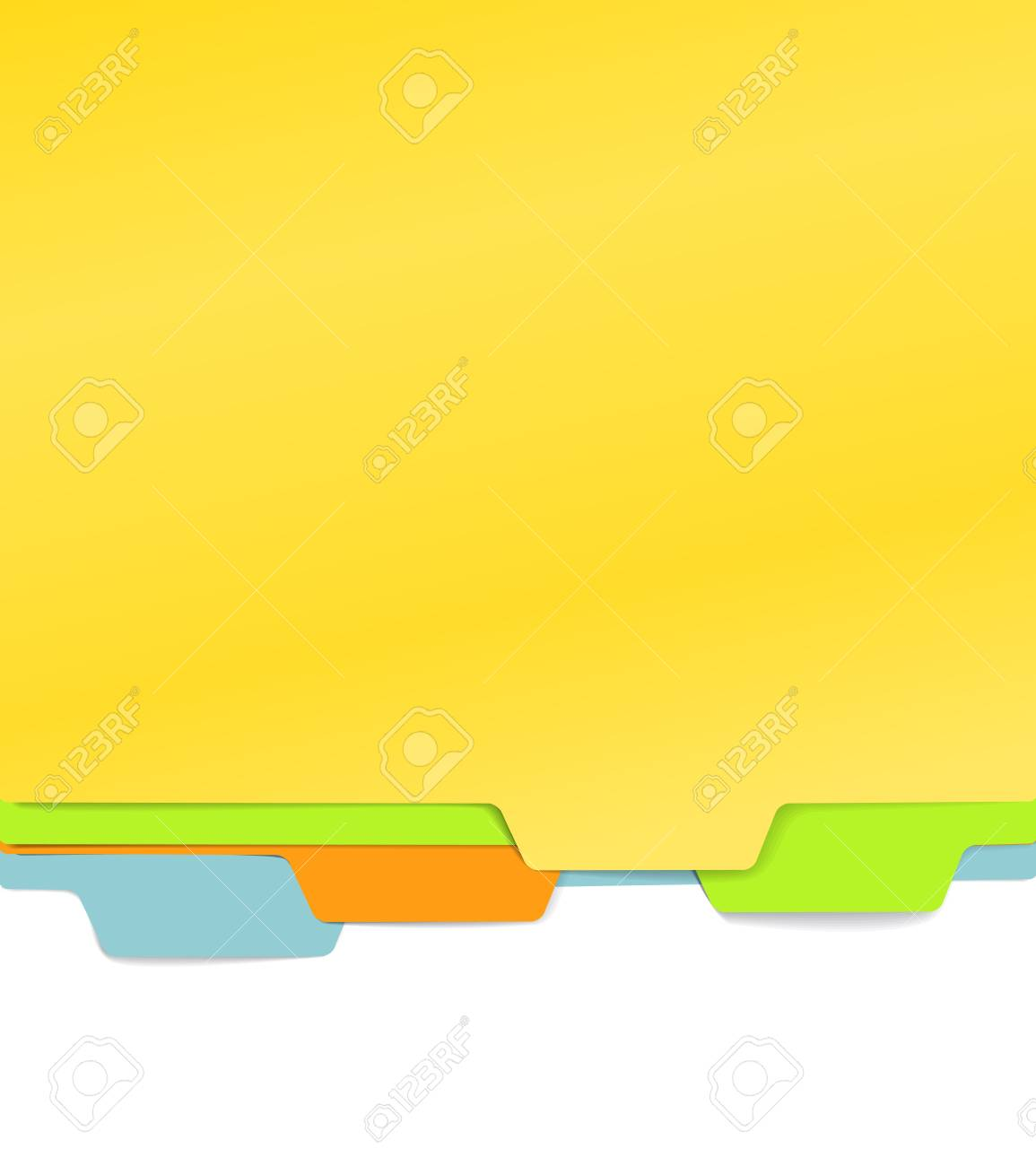 Background of color paper folders Stock Vector - 11319752