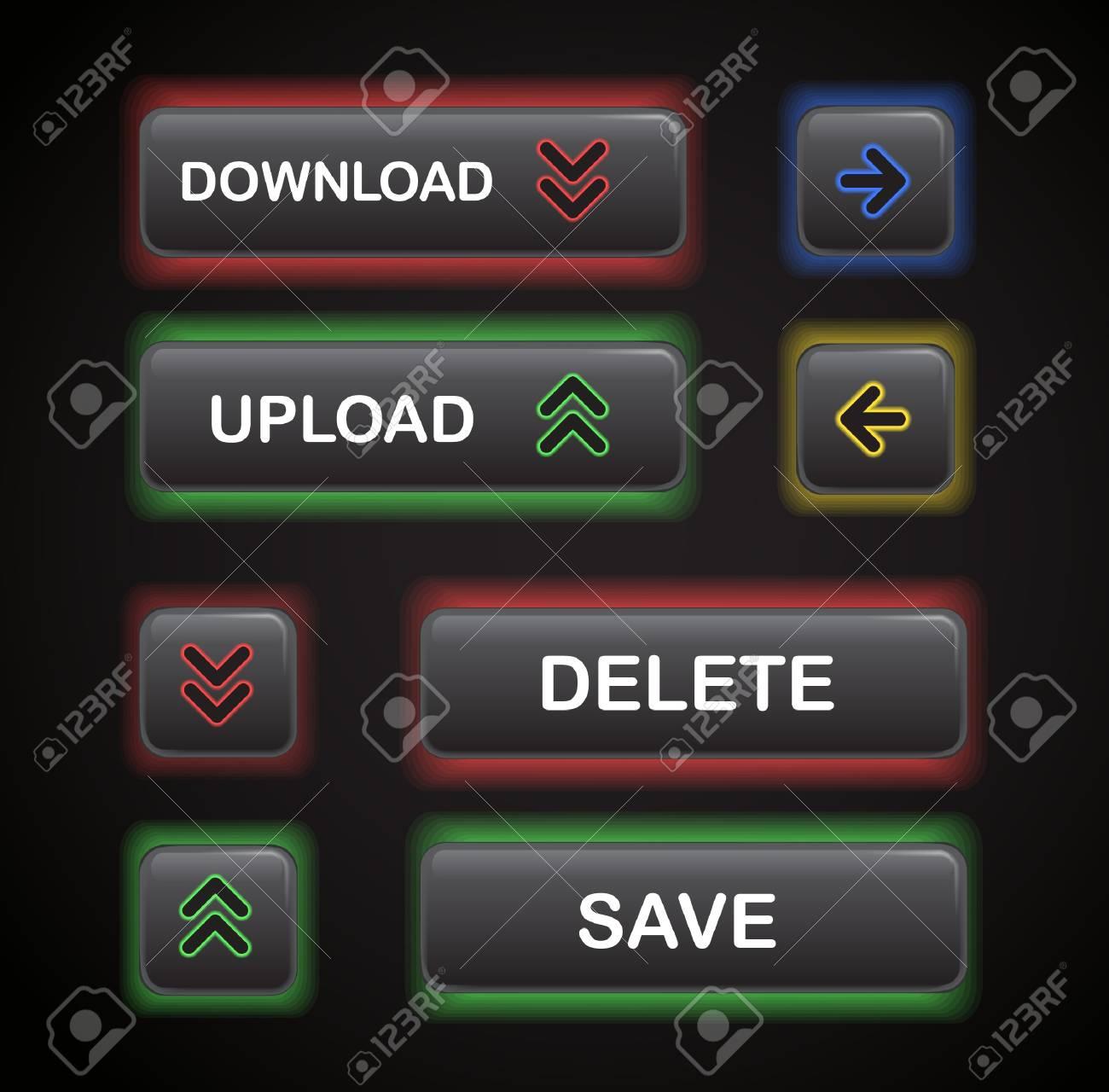 set of navigation modern style buttons Stock Vector - 11333335