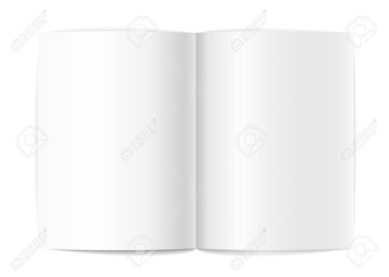 Blank Book Pages Template For A Content Royalty Free Cliparts ...