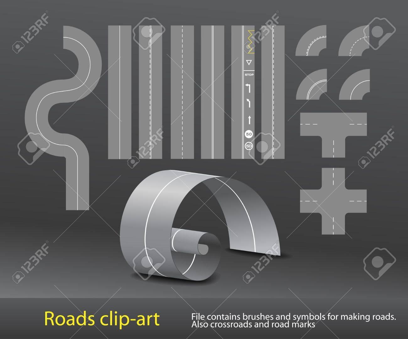Vector road elements set Stock Vector - 11371851