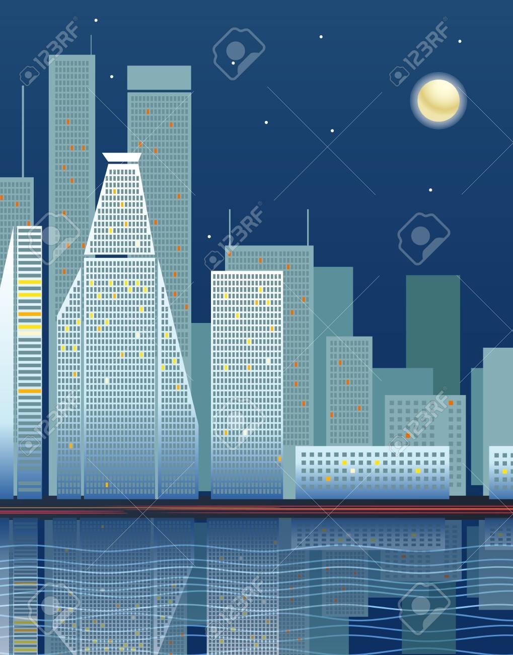 Modern city district illustration Stock Vector - 11430731