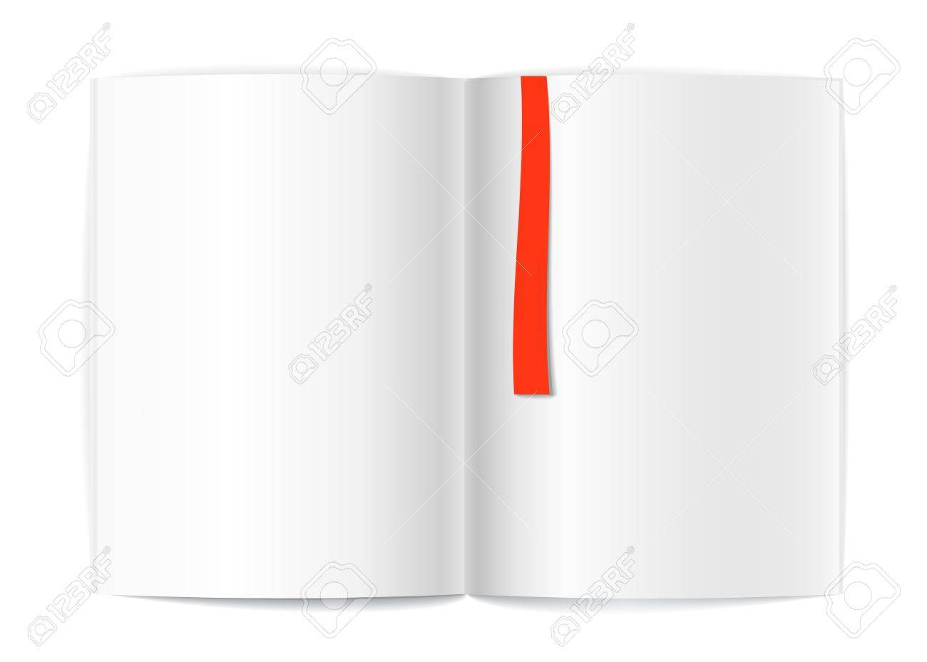 Blank Book Pages And Bookmark Template For A Content Royalty Free – Blank Bookmark Template