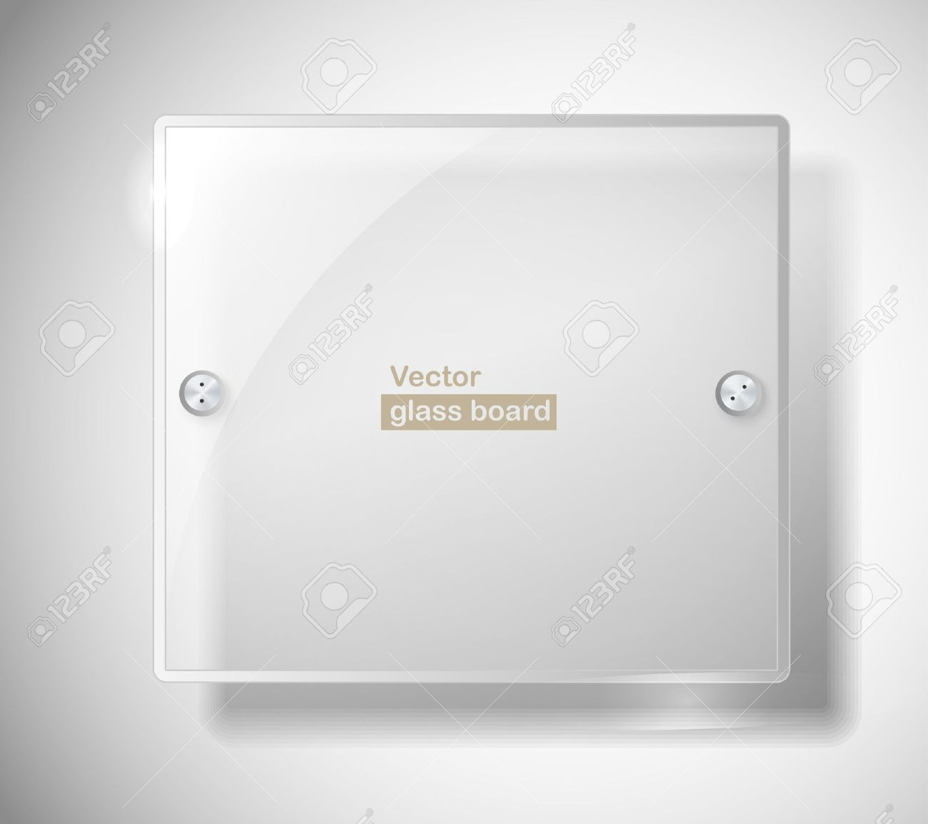 Square advertising glass board. Place your text on it Stock Vector - 11431005