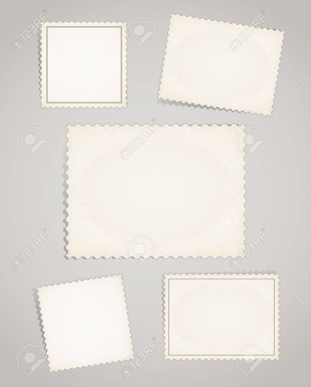 Vintage post stamps template clip-art Stock Vector - 11430996