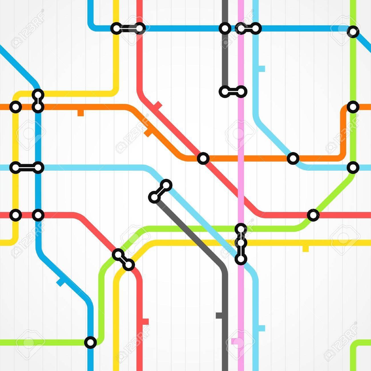 Seamless background of metro scheme Stock Vector - 11430884