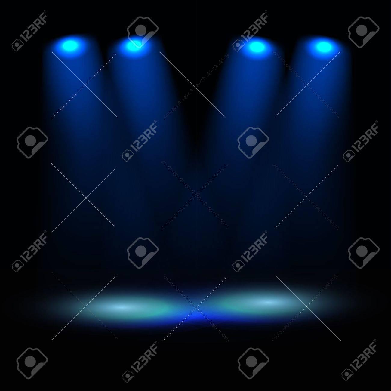 Illuminated stage template Stock Vector - 11430958