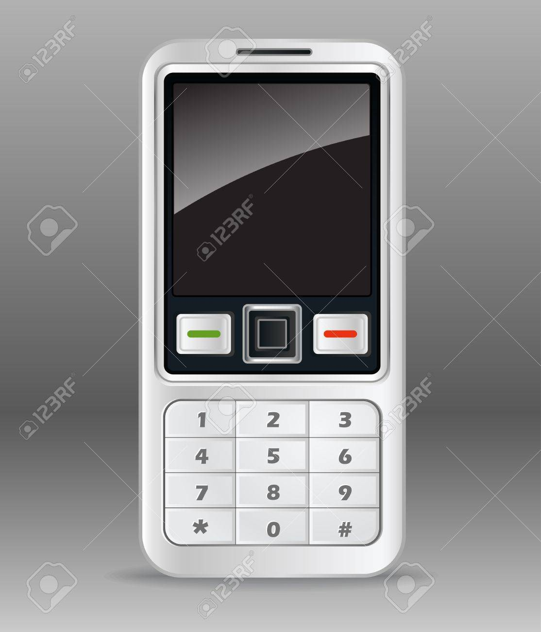 Old mobile phone illustration Stock Vector - 11430904