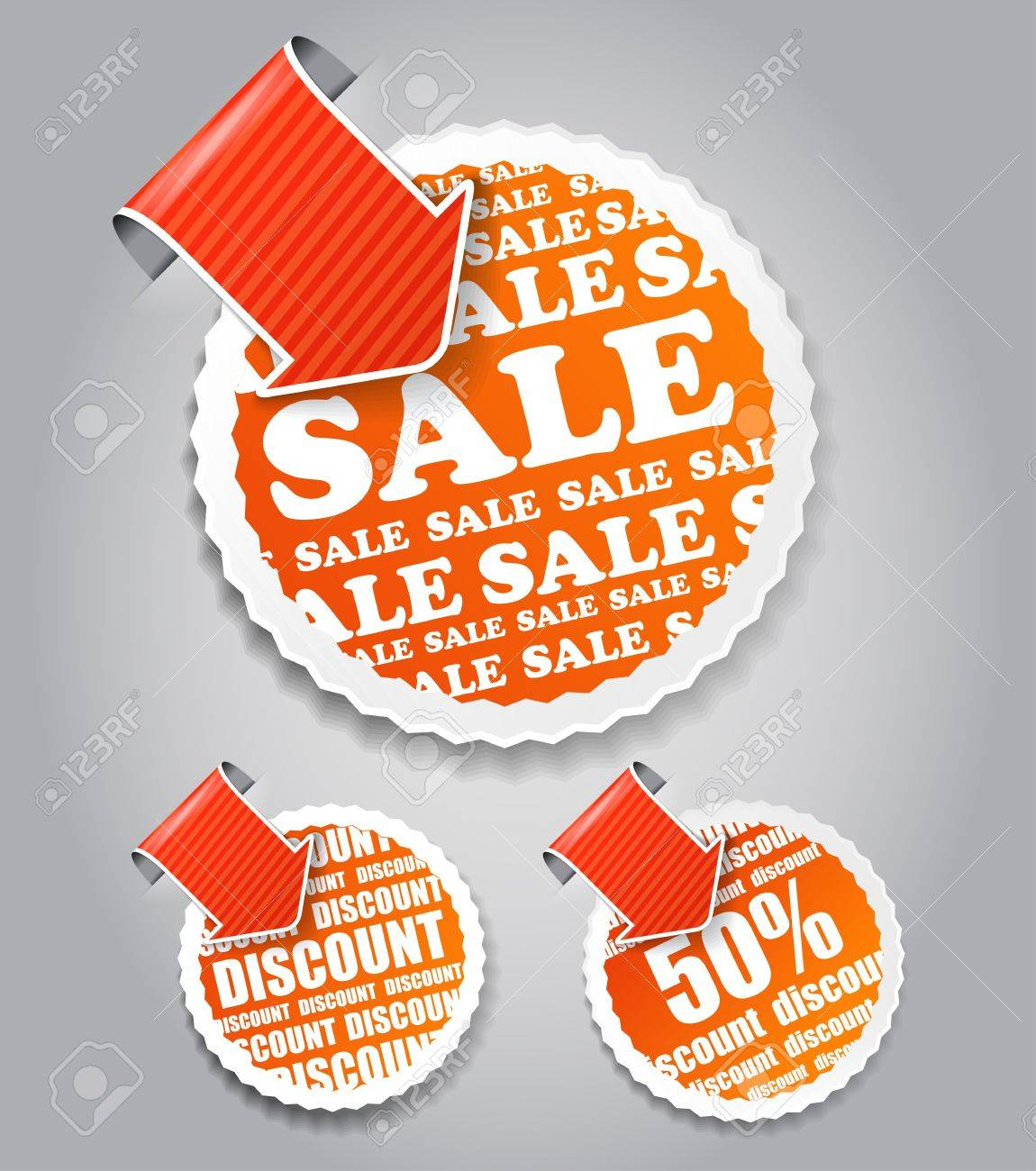 shopping labels: sale and discount Stock Vector - 11431026