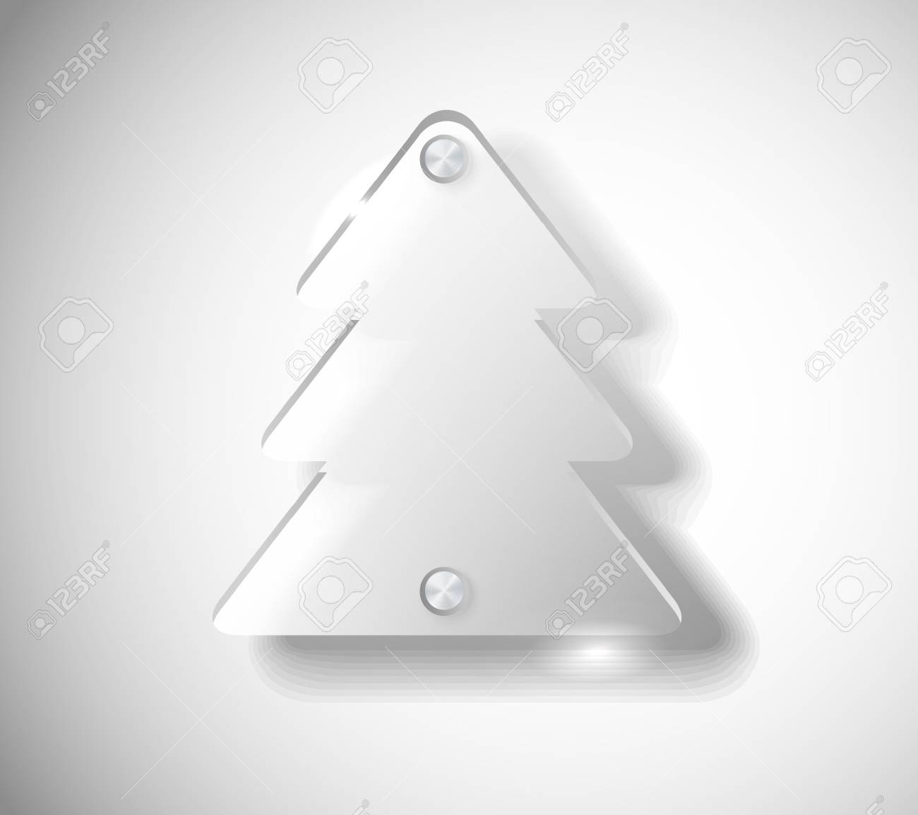 Glass Christmas tree Stock Vector - 11595552
