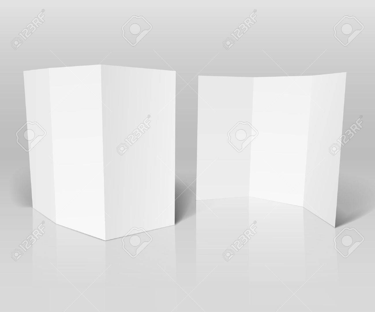 Blank white booklet template Stock Vector - 12429124