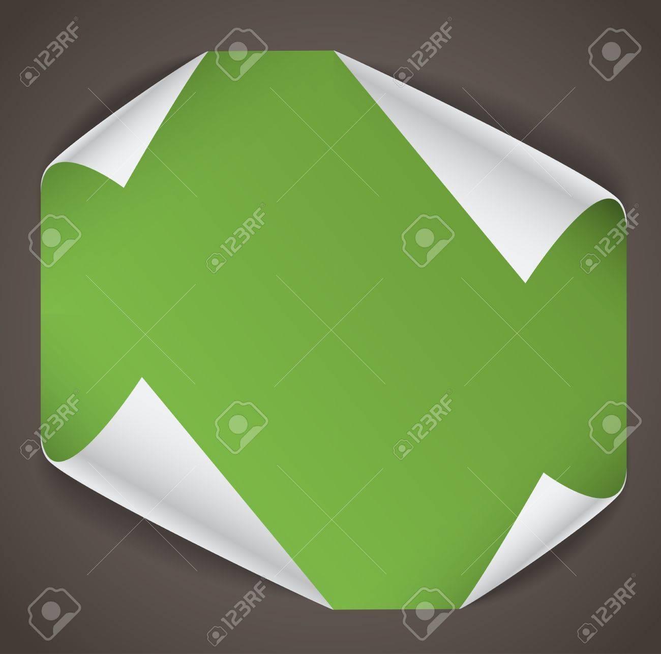 Blank paper sheet with bending corners Stock Vector - 12429152