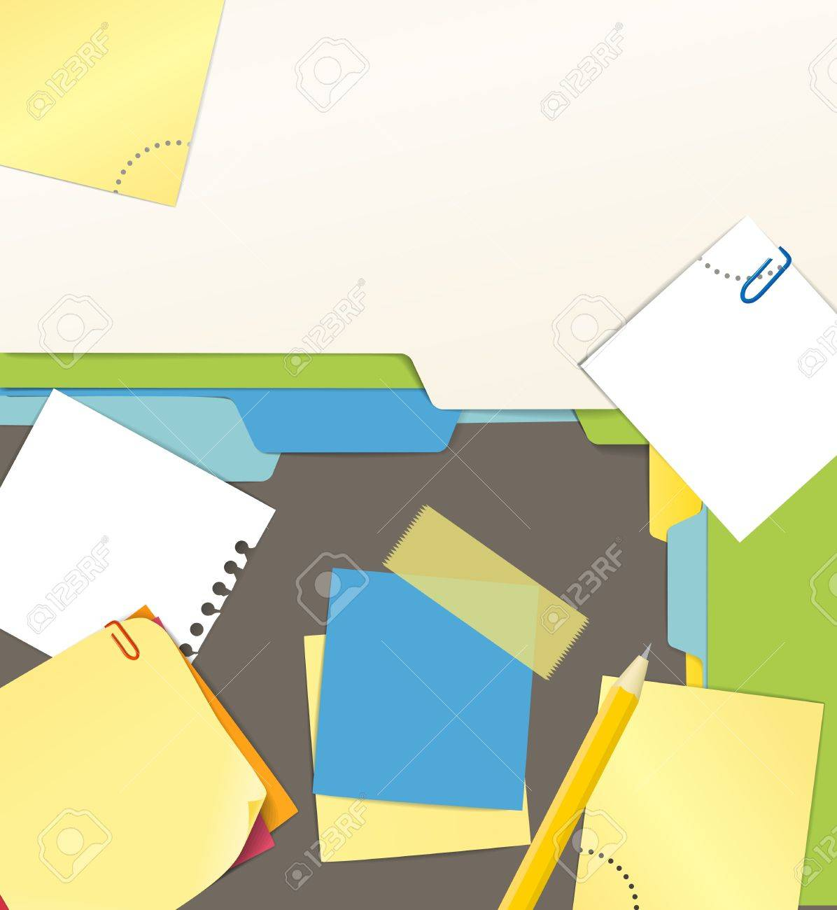 Background of an office stuff Stock Vector - 13184549