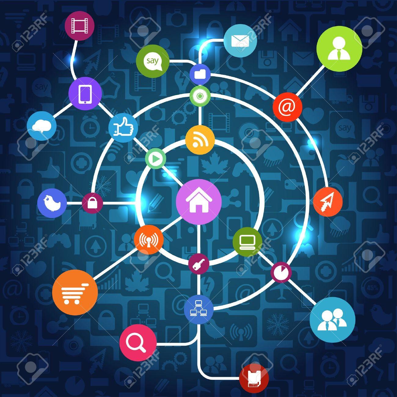 Modern social media abstract scheme Stock Vector - 13506913