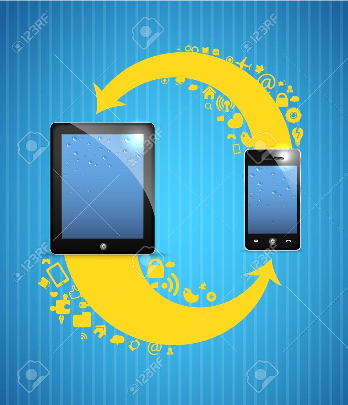 Circulation of media information in social networks Stock Vector - 13718551