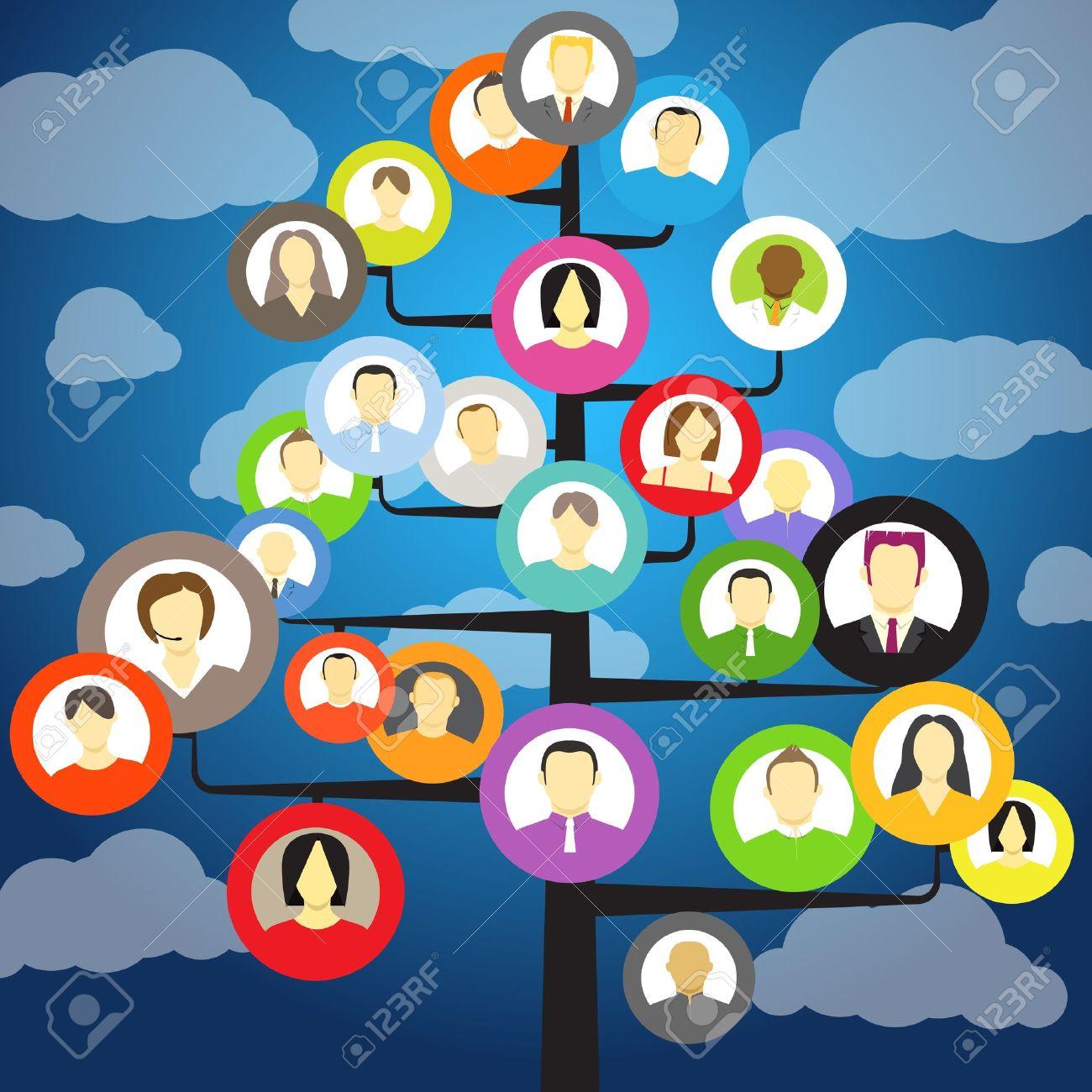 Family Tree Cartoon Images Family Tree Images Stock