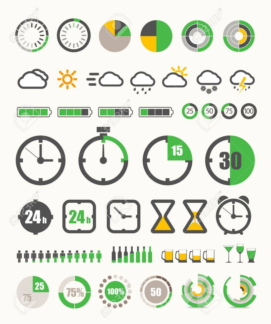 Different indicators collection Stock Vector - 14121758