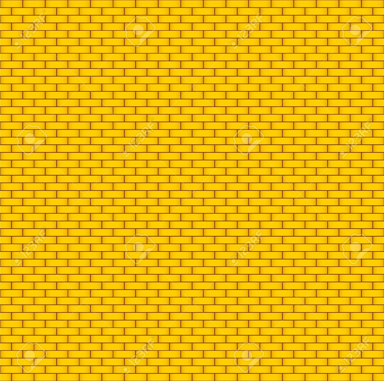 Yellow brick wall  Seamless background Stock Vector - 14210752